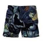 Cartoonized Batman Superhero Cool Full Print Short - Superheroes Gears