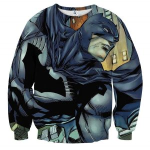 Cartoonized Batman Superhero Cool Full Print Sweatshirt - Superheroes Gears