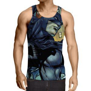 Cartoonized Batman Superhero Cool Full Print Tank Top - Superheroes Gears