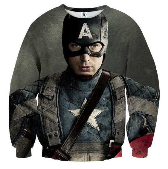 Chris Evans Captain America Realistic Portrait Sweatshirt