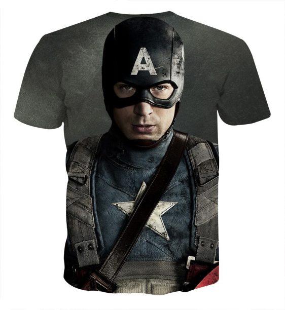 Chris Evans Captain America Realistic Portrait T-shirt