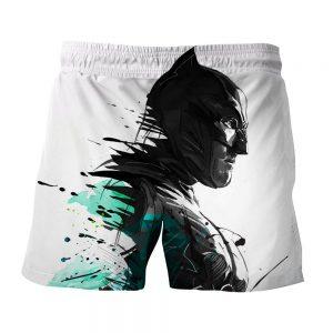 Cool Paint Art Design Batman Print On White Short - Superheroes Gears