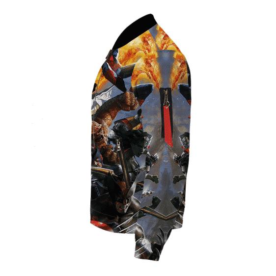 Classic Avengers Team Bomber Jacket Over All Print