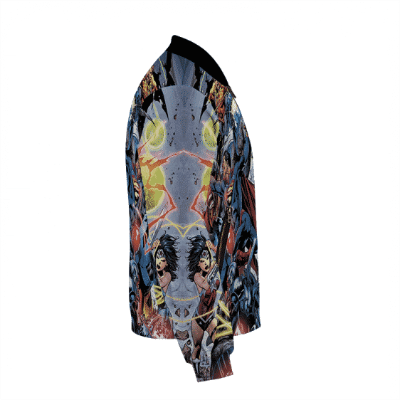 Justice League Team All Over Print Bomber Jacket