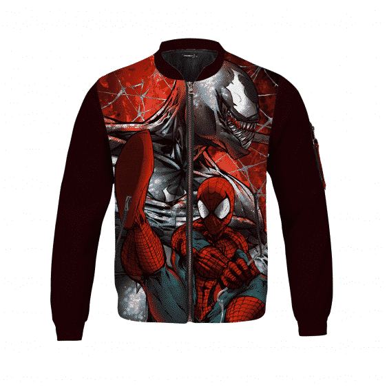 Red Dope Venom & Spider Man Bomber Jacket