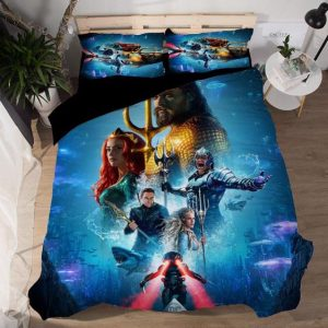 DC Aquaman Underwater Kingdom Movie Characters Bedding Set