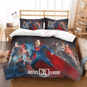 DC Comics Justice League Movie Poster Design Bedding Set