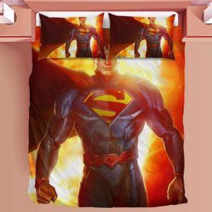 DC Superman Clark Kent Man of Steel Heat Vision Bedding Set
