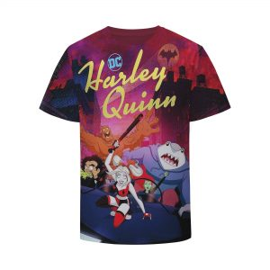 DC Harley Quinn Suicide Squad Animated Design T-Shirt