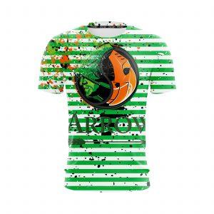 DC Arrow & Villain Deathstroke Logo Green Stripes T-Shirt