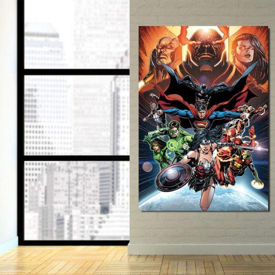 DC Comic Astonishing Justice League 1pcs Canvas Print