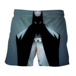DC Comics Batman Hero Logo On The Moon Full Print Short - Superheroes Gears