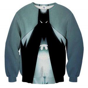 DC Comics Batman Hero Logo On The Moon Full Print Sweatshirt - Superheroes Gears