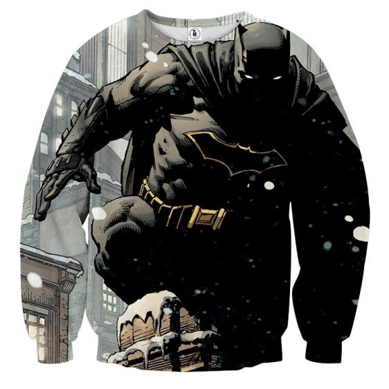 DC Comics Brave Batman The Dark Knight Full Print Sweatshirt - Superheroes Gears