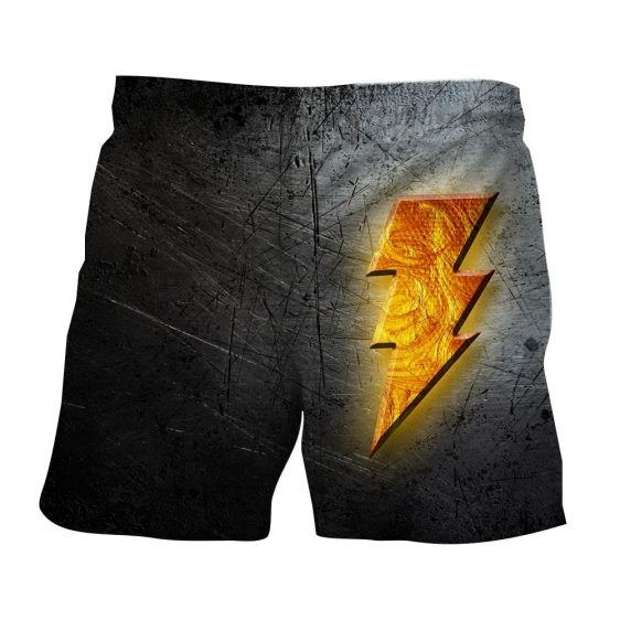 DC Comics Captain Marvel Shazam! Logo Cool 3D Print Shorts