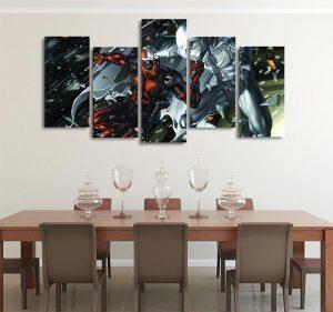 DC Comics Deadpool Vs Moon Knight 5pcs Wall Art Canvas Print