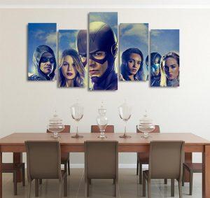 DC Comics Elseworlds Superheroes 5pcs Wall Art Canvas Print