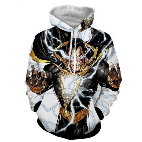 DC Comics Epic Godly Captain Marvel Shazam White Hoodie