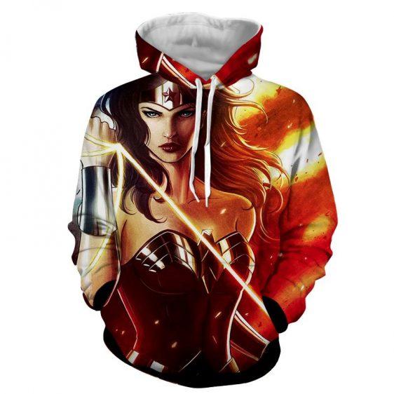 DC Comics Fierce Wonder Woman Golden Lasso Amazing Hoodie