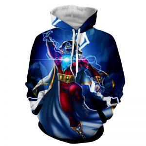 DC Comics Flying Captain Marvel Shazam Modern Blue Hoodie