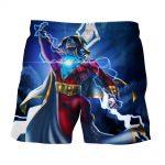 DC Comics Flying Captain Marvel Shazam Modern Blue Shorts