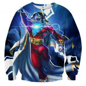 DC Comics Flying Captain Marvel Shazam Modern Blue Sweatshirt