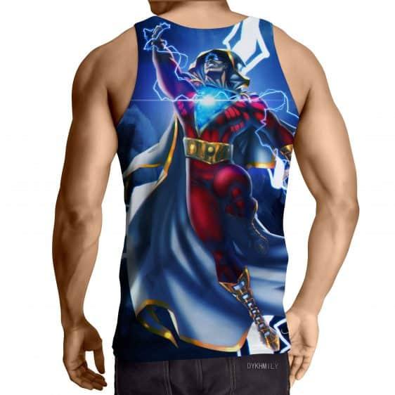 DC Comics Flying Captain Marvel Shazam Modern Blue Tank Top
