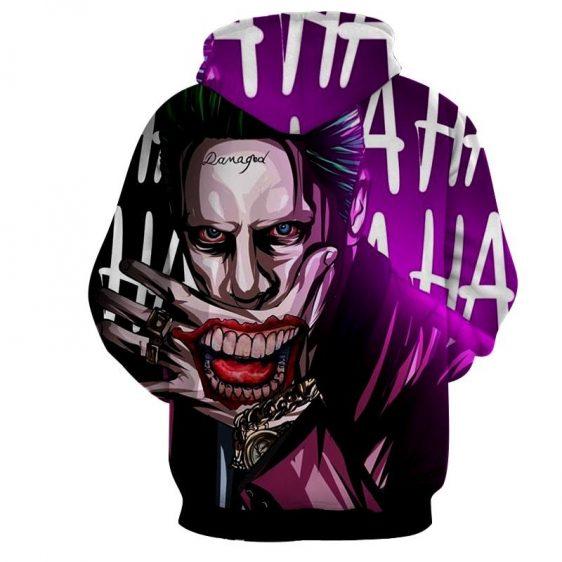 DC Comics Joker Optical Illusion Design Full Print Hoodie