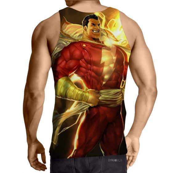 DC Comics Powerful Captain Marvel Shazam Golden Tank Top