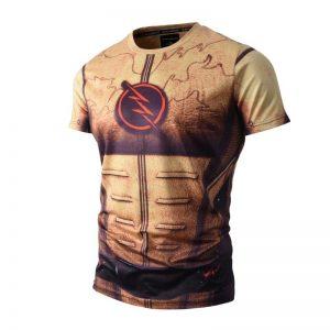 DC Comics Reverse Flash Costume Design Yellow Suit T-shirt