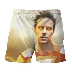 DC Comics Shazam Billy Batson Portrait 3D Print Shorts