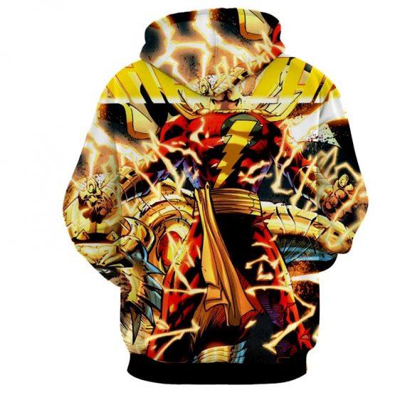 DC Comics Shazam Godly Lightning Blasts 3D Print Hoodie