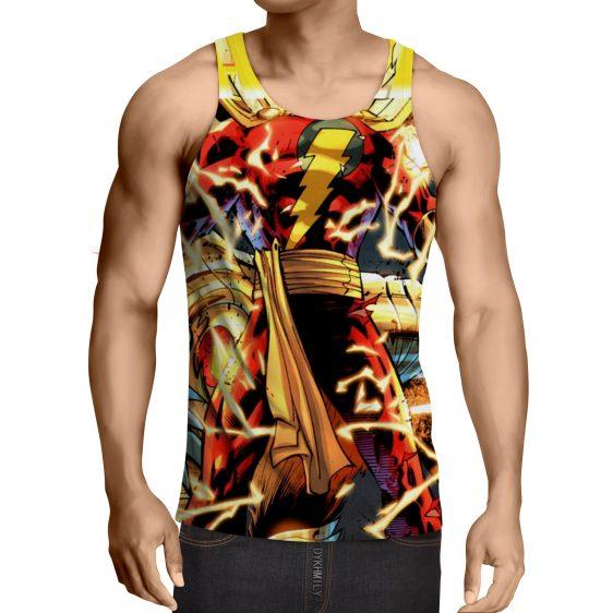 DC Comics Shazam Godly Lightning Blasts 3D Print Tank Top