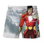 DC Comics Superhero Shazam Stylish White Shorts