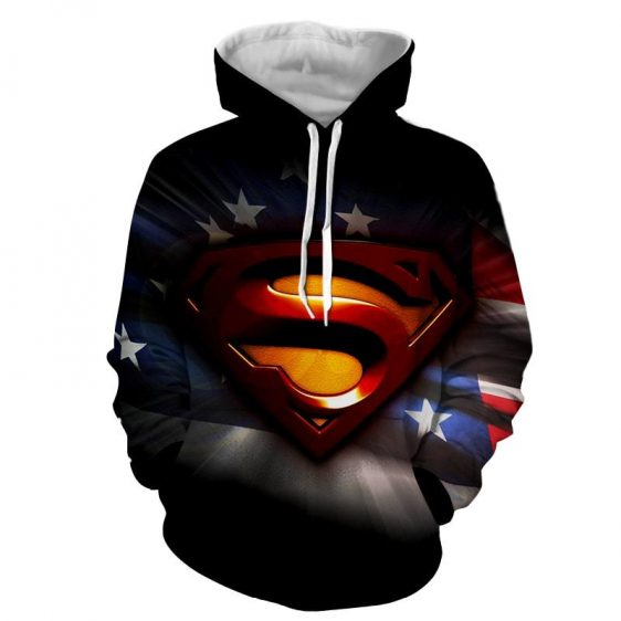 DC Comics Superman Signature Design Full Print Hoodie