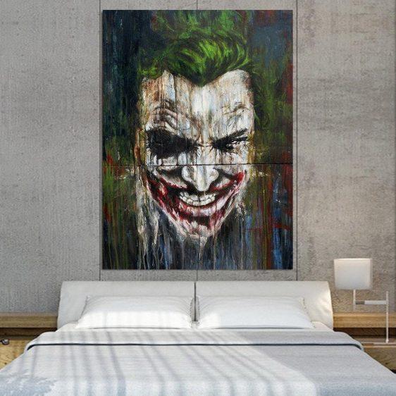 DC Comics Supervillain Mad Joker 1pcs Vertical Canvas Print