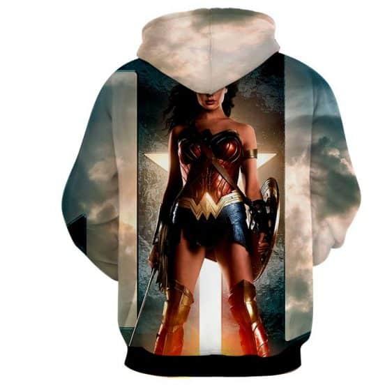 DC Comics Wonder Woman Gal Gadot Standing Fierce Cool Hoodie