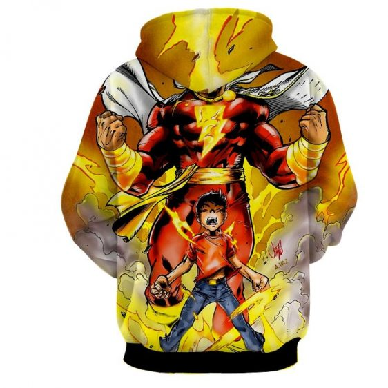 DC Comics Young Billy Shazam Magical Transformation Hoodie
