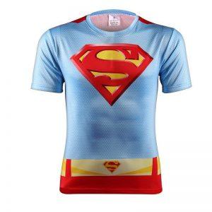 DC Superman Justice League Symbol S Light Blue Background T-shirt - Superheroes Gears