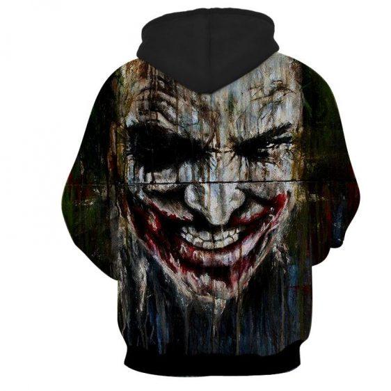 Dark Knight Joker Painted Creepy Face Vintage Hoodie