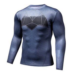 Dark Knight Superhero Long Sleeves 3D Compression T-shirt - Superheroes Gears