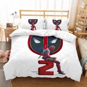 Deadpool 2 Movie Lonely Deadpool White Bedding Set