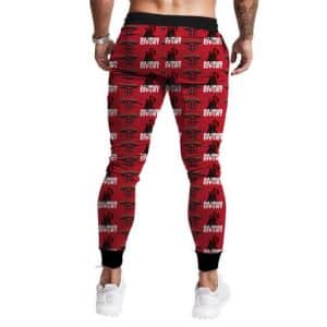 Deadpool Maximum Effort Cool and Awesome Crimson Joggers