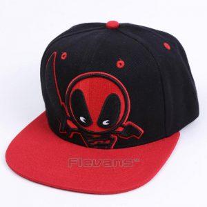 Deadpool Symbol Black Red Awesome Snapback Baseball Hat Cap - Superheroes Gears