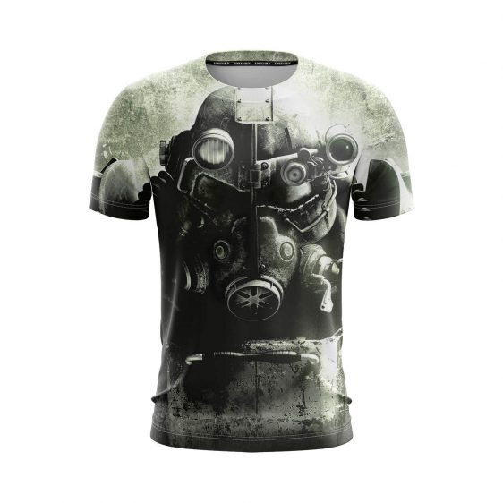 Fallout 3 Power Armored Gas Mask Post-Apocalyptic T-Shirt