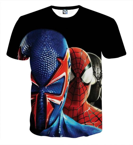 Fantastic Four Spiderman Design Full Print T-Shirt