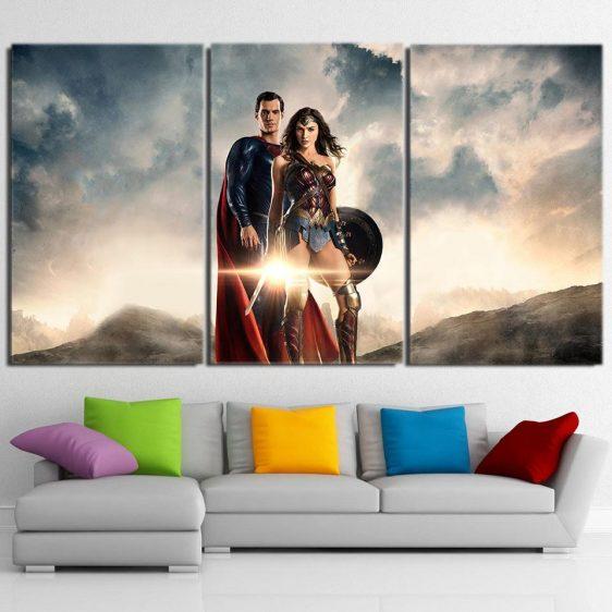 Fantastic Two Justice League Style 3pcs Canvas Print