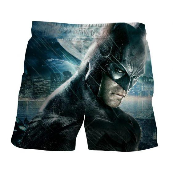 Fierce Batman Face Shot Under The Rain Full Print Shorts