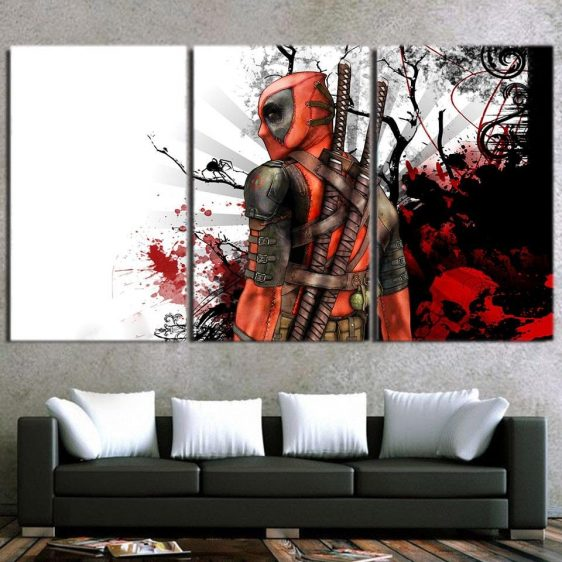 Fight Against The Rival Bloody Design 3pcs Canvas Print