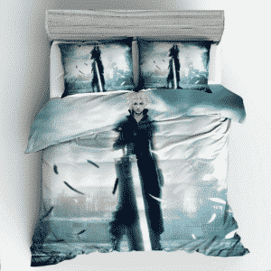 Final Fantasy Cloud Strife Close-Up Elegant Bedding Set